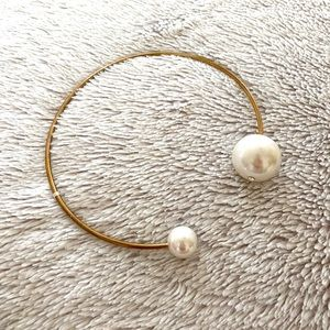 VINTAGE PEARL BUBBLE WIRE NECKLACE CHOCKER